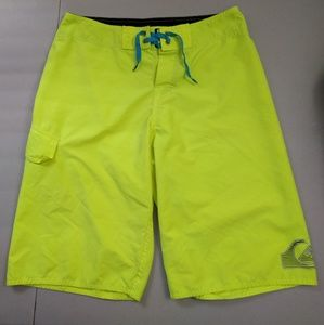 Quiksilver Mens Neon Yellow Boardshorts Swim Trunk